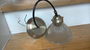 Brass & Glass single spot light