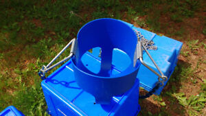 Hanging High Back Full Bucket Baby Swing Seat with Chains (Blue)