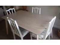 Brand new boxed limed Oak dining table