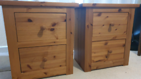 SOLD 2 Solid pine bedside drawers from JB McLean