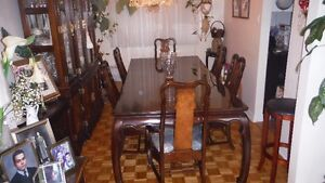 Dining Table with 6 Chairs, Buffet, Hutch  &  Credenza