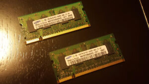 SODIMM DDR2 Laptop memory 2 x 1GB PC2-6400
