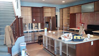 Cabinets and woodwork spray painting