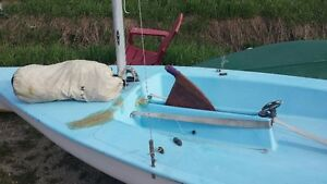 14 ft sailboat with swing center board and rudder