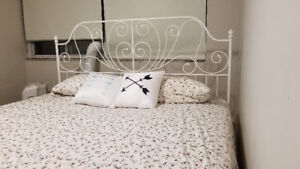 King size mattress plus bed frame excellent condition