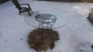 Free - patio table with glass top