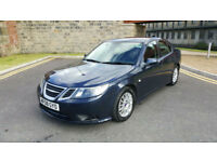 Saab 9-3 1.9TiD (150ps) Automatic Diesel 2008 Linear in Blue, Low Mileage Auto