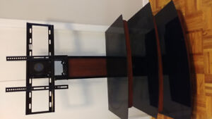 3 tiered tv stand with tv mount