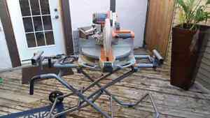 Ridgid 12 inch mitre saw dual bevel with stand Cambridge Kitchener Area image 1