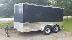 LOOK ENCLOSED TRAILER 7x12' WITH RAMP NEVER SEEN SNOW...