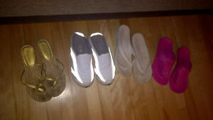 WOMENS SIZE 7.5 SHOES, SANDALS, ETC