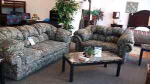Camouflage Loveseat & Couch Set