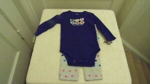2 new outfits size 3/6 months