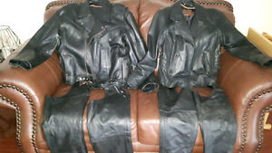 Men and women's leather riding gear