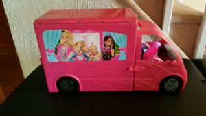 Barbie Camper, Vehicles and Dollhouse with accessories