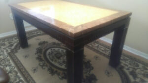 Marble Dining Table with 6 Free Chairs