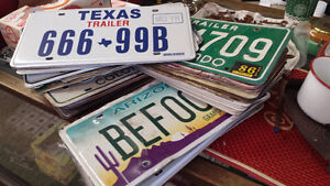 LARGE SELECTION OF  LICENCE PLATES..$5...EACH