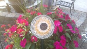 Glass Flower Garden Décor with solar color changing lights