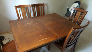 Table, 8 Chairs and Buffet