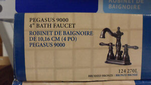 Pegasus 9000 4 In. Centerset Two Handle Faucet, Brushed Bronze West Island Greater Montréal image 1