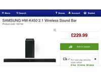 Samsung HW-K450 Bluetooth sound bar and wireless subwoofer bargain