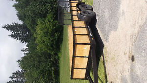 16 foot utility tandom trailer perfect for hunting