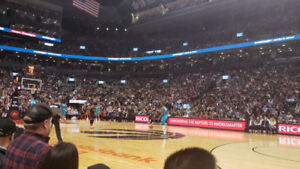 Raptors vs Indiana Pacers ** COURTSIDE ** CENTER COURT **