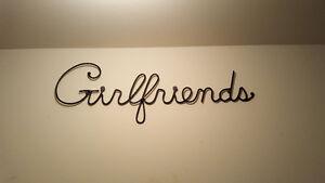 """Girlfriends"" sign Cambridge Kitchener Area image 1"