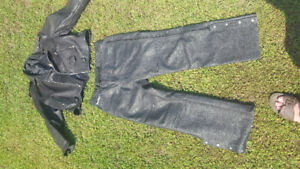 Motorcycle leather jackets and pants