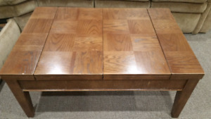 Coffee table and 2 end tables (enclosed games table)
