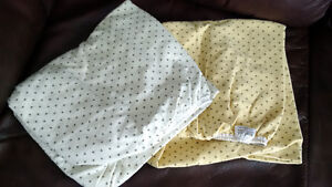 Flannel fitted sheet for playpen
