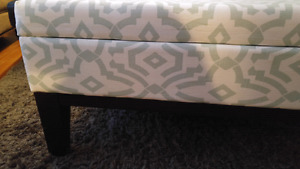 Large comfy storage ottoman for sale
