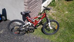 "Kids 20"" dual suspension moutain bike"