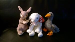 Peluches TY, Springy, Honks et Lullaby (Lapin Canard et Brebis)