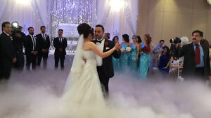 Wedding dry ice effect, snow machine, Bubble And laser light