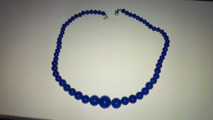 Genuine Royal Blue Sapphire Necklace 18 Inches