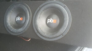Two 12 inch Sub-woofers including an amp!