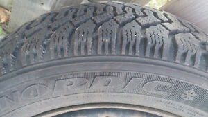 "15"" Goodyear Nordic Winter Tires 195/55R/15 and rims X4 Belleville Belleville Area image 7"
