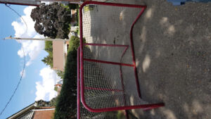 Hockey nets and Jr Goalie equipment.