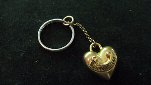 Juicy Couture Puffy Heart- goldtone- chain for bracelet or keys