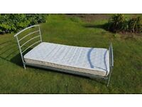 Quality Single bed with barely used mattess