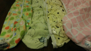 4 Kushies flannel bassinet fitted sheets