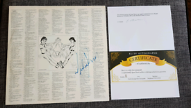 Signed Michael Jackson signed vinyl cover