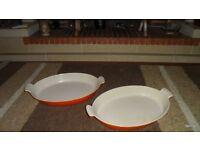 Le Creuset - Vintage Volcanic - Oval x 2 +1 Small Lasagne dish unused