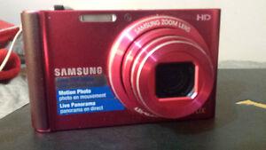 """Samsung St201 16.1mp 10x Zoom 3.0"""" lcd HD Digital Camera Red"""