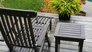 Outdoor wood patio set 9 present. West Island Greater Montréal image 2