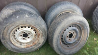 4 VW Volkswagen tires and rims for Westfalia