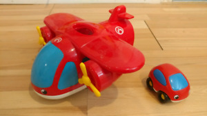 Red airplane and car set