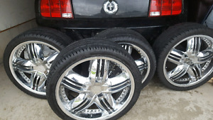 """20"""" Chrome Rims and Tires 245/35/20"""