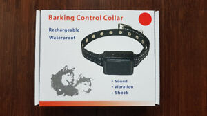 Rechargeable anti-bark dog collar